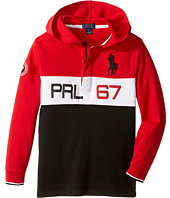 Polo Ralph Lauren Kids - Jersey Long Sleeve Hooded Rugby (Little Kids/Big Kids)