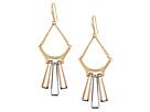 Topaz & Black Diamond & Gold Chandelier Earrings
