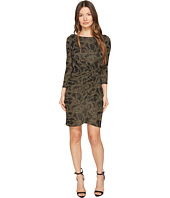 Just Cavalli - Jersey Long Sleeve Snake Jacquard Print Dress