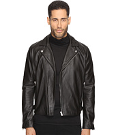 The Kooples - Minimalist Leather Perferated Motorcycle Jacket