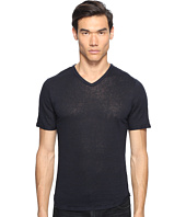 Vince - Raw Edge Linen V-Neck T-Shirt