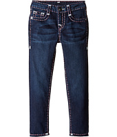 True Religion Kids - Casey White and Pink Combo Super T Jeans in Tear Drop Blue (Toddler/Little Kids)