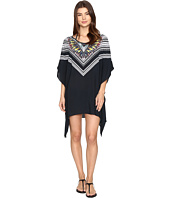 Red Carter - Feather Warrior Rayon Tunic Cover-Up