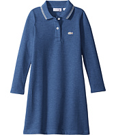 Lacoste Kids - Long Sleeve A-Line Polo Dress with Tipping Detail (Infant/Toddler/Little Kids/Big Kids)