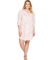 LAUREN Ralph Lauren - Plus Size 3/4 Sleeve Sleepshirt