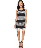 Christin Michaels - Cady Sleeveless Burnout Lace Dress