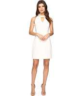 Christin Michaels - Britta Sleeveless Keyhole Dress with Pearl Neckline