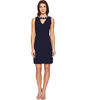 Christin Michaels - Gisela Sleeveless Keyhole Dress with Pearl Detail