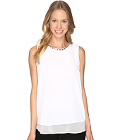 Calvin Klein - Sleeveless Jewel Neck Top