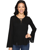 Brigitte Bailey - Rebeka Tie-Front Bell Sleeve Top