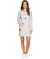 Brigitte Bailey - Tatum Long Sleeve Pocketed Dress with Patches