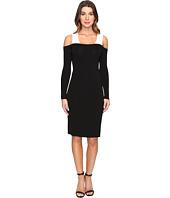 Calvin Klein - Color Block Cold Shoulder Sweater Dress