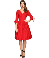 Unique Vintage - 1950s Style 3/4 Sleeve Diana Swing Dress