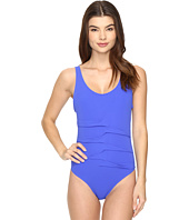 Nicole Miller - La Plage By Nicole Miller Melanie Cross Back One-Piece
