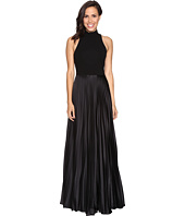 Nicole Miller - Mock Neck Pleated Gown