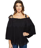 Hale Bob - Escape Plan Silk Cotton Voile Cold Shoulder Top