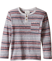 Lucky Brand Kids - Striped Henley Shirt with Chest Pocket (Toddler)