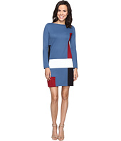 Christin Michaels - Amae Long Sleeve Color Block Dress