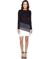 Christin Michaels - Caprice Long Sleeve Color Block Dress