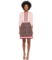 Kate Spade New York - Rambling Roses Floral Tile Mini Dress