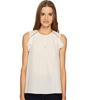 Kate Spade New York - Rambling Roses Ruffle Silk Top