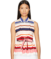 Kate Spade New York - Spice Things Up Berber Stripe Peplum Top
