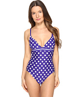 Kate Spade New York - Polka Dot V-Neck One-Piece Swimsuit