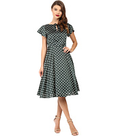 Unique Vintage - Formosa Flutter Sleeve Dress