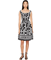 Kate Spade New York - Spice Things Up Lantern Scoop Neck Dress