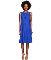 Kate Spade New York - Rambling Roses Crepe Ruffle Fit and Flare Dress
