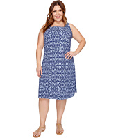 Extra Fresh by Fresh Produce - Plus Size Island Batik Square Neck Dress