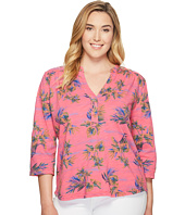 Extra Fresh by Fresh Produce - Plus Size Off Shore Dockside Henley