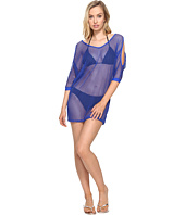 La Blanca - All Meshed Up Cold Shoulder Tunic Cover-Up