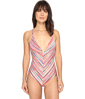 Jantzen - Mayan Reef Over the Shoulder Plunge One-Piece