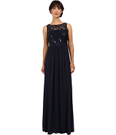 Adrianna Papell - Sleeveless Sequin Mesh Bodice and Stretch Tulle Gown