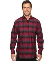 Thomas Dean & Co. - Long Sleeve Plaid Sport Shirt