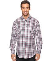Thomas Dean & Co. - Long Sleeve Plaid Jacquard Sport Shirt