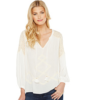 Hale Bob - Natural Ground Crinkle Rayon Gauze Long Sleeve Top