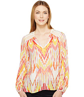 Hale Bob - Lens Flair Lightweight Rayon Dot Woven Long Sleeve Top