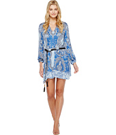Hale Bob - Sunny Spirit Rayon Stretch Satin Woven Long Sleeve Dress