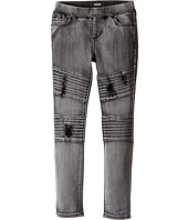 Hudson Kids - Skinny Moto with Pleating and Destruction Jeans in Moonlight (Toddler/Little Kids)
