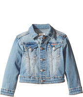 Hudson Kids - Denim Jacket with Applique Banner and Embroidery (Toddler/Little Kids)