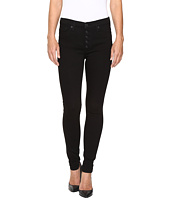 Hudson - Ciara High-Rise Exposed Buttons Super Skinny in Black