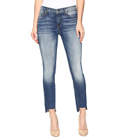 7 For All Mankind - Ankle Skinny w/ Step Hem in Distressed Authentic Light 3