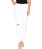 Hudson - Nico Mid-Rise Super Skinny in Strife/White Distress