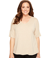 B Collection by Bobeau Curvy - Plus Size Mallory Dolman Mixed Media Top
