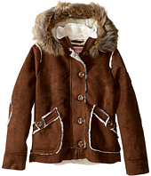 Urban Republic Kids - Hooded Ultra Suede Faux Shearling Jacket (Little Kids/Big Kids)