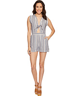 Brigitte Bailey - Kendall Sleeveless Romper with Front Tie