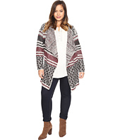 Lucky Brand - Plus Size Mixed Stripe Cardigan