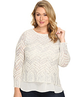 Lucky Brand - Plus Size Stitch Shine Sweater